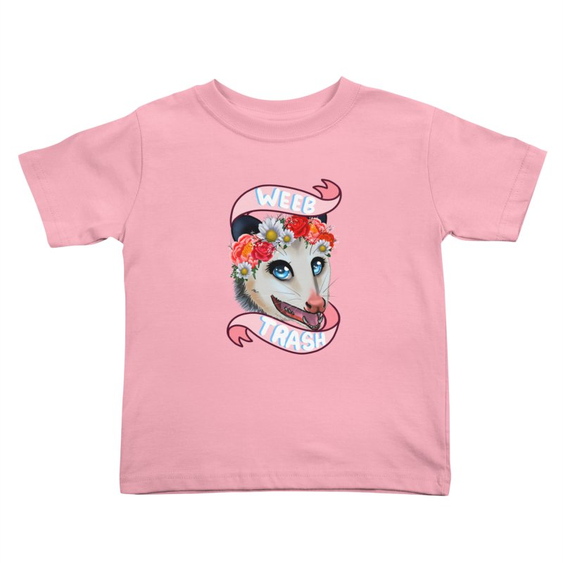 Weeb trash Kids Toddler T-Shirt by AnimeGravy