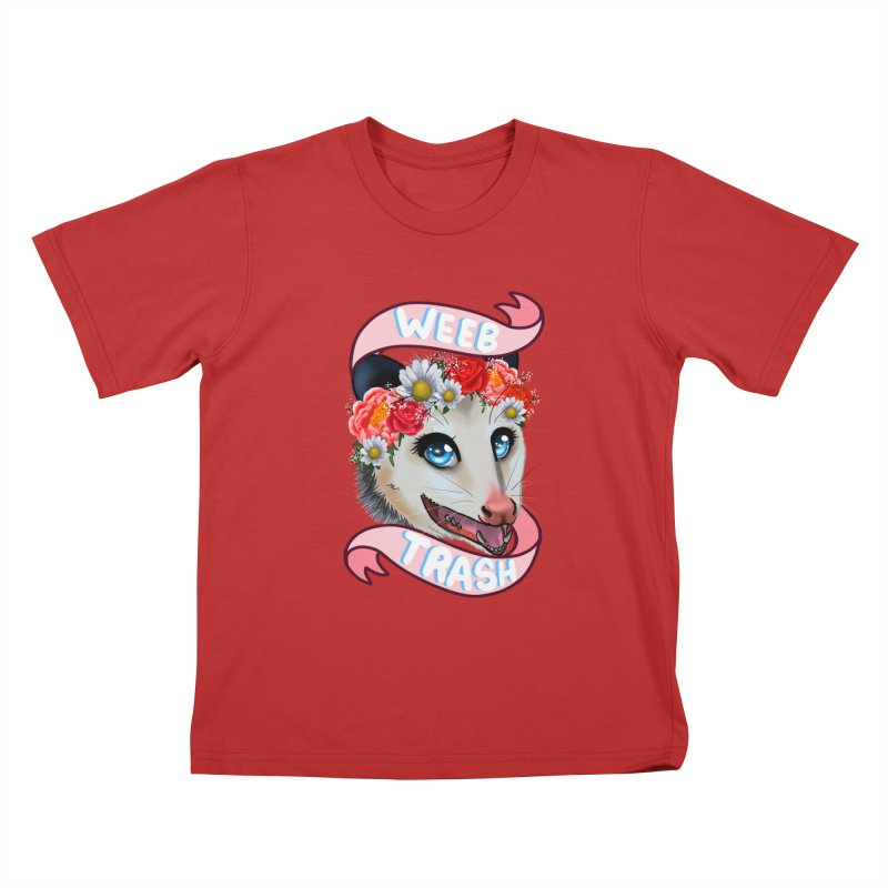 Weeb trash Kids T-Shirt by AnimeGravy