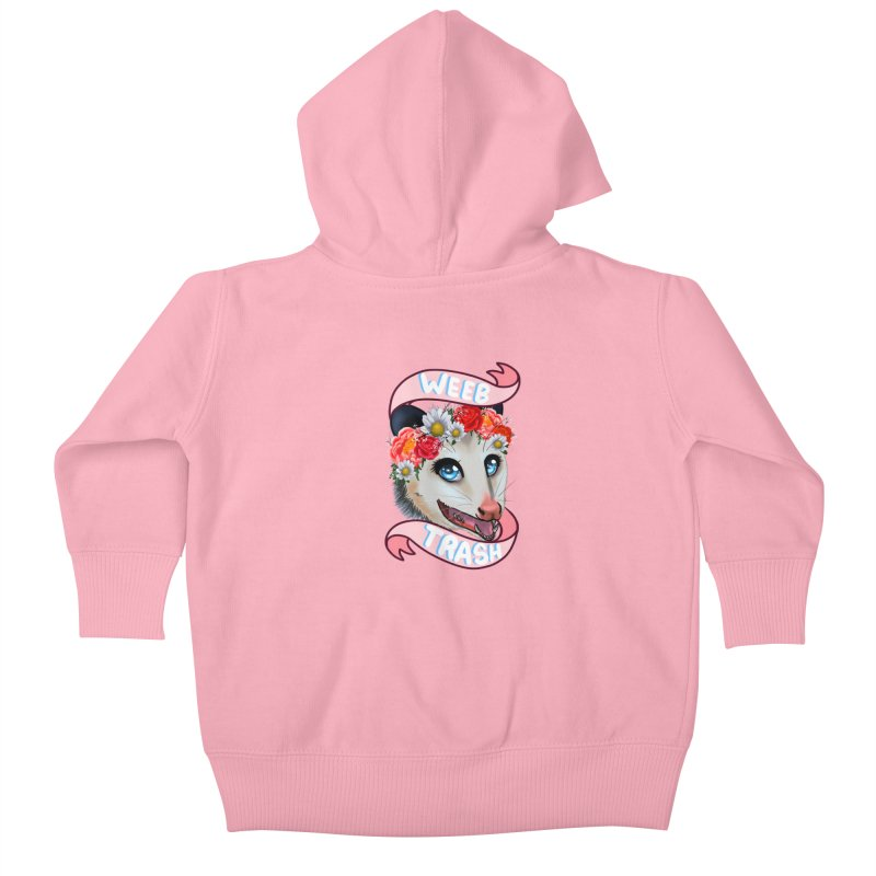 Weeb trash Kids Baby Zip-Up Hoody by AnimeGravy