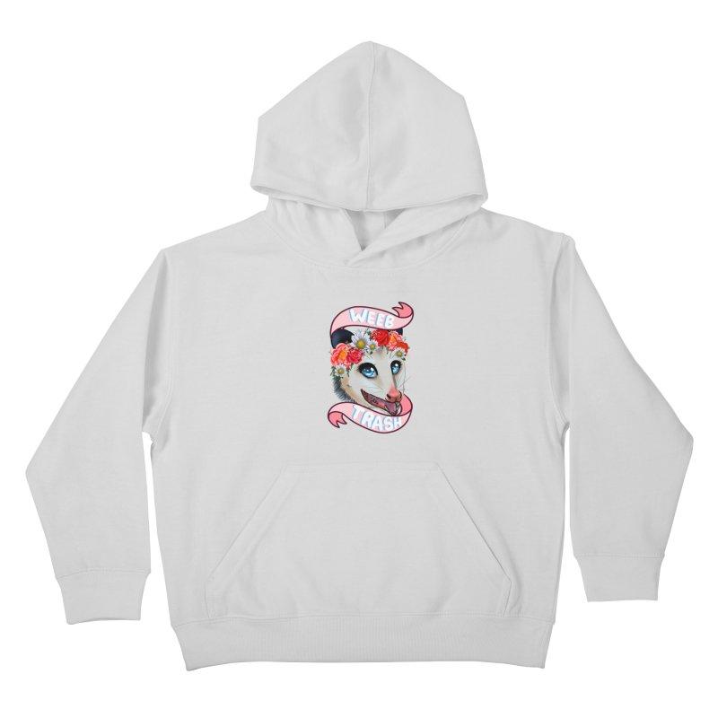 Weeb trash Kids Pullover Hoody by AnimeGravy