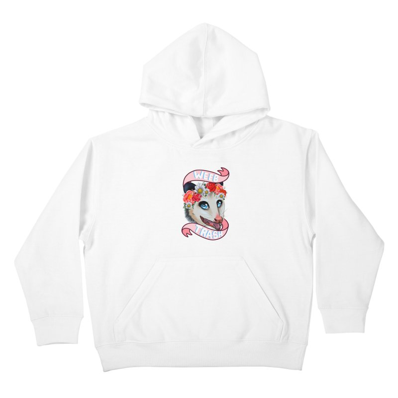 Weeb trash Kids Pullover Hoody by AnimeGravy