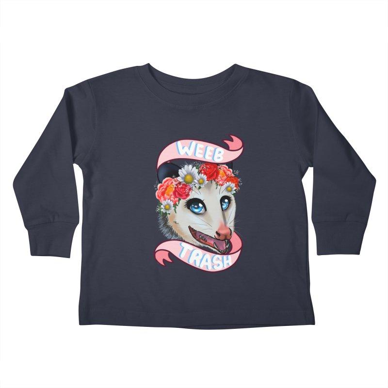 Weeb trash Kids Toddler Longsleeve T-Shirt by AnimeGravy