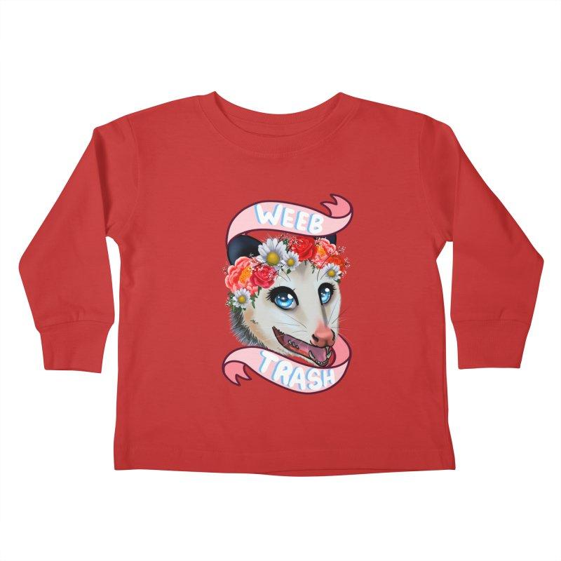 Weeb trash Kids Toddler Longsleeve T-Shirt by Animegravy's Artist Shop
