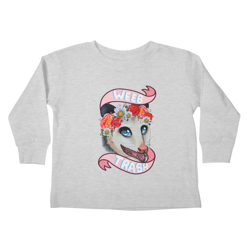 Weeb trash Kids Toddler Longsleeve T-Shirt by AnimeGravy
