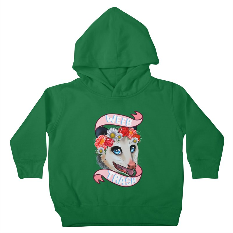 Weeb trash Kids Toddler Pullover Hoody by AnimeGravy