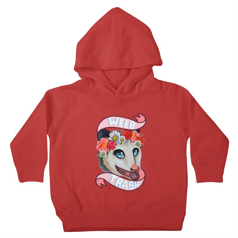 Weeb trash Kids Toddler Pullover Hoody by Animegravy's Artist Shop