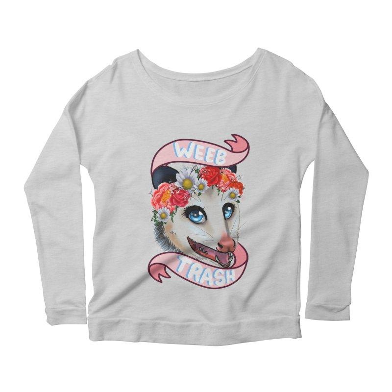 Weeb trash Women's Scoop Neck Longsleeve T-Shirt by AnimeGravy