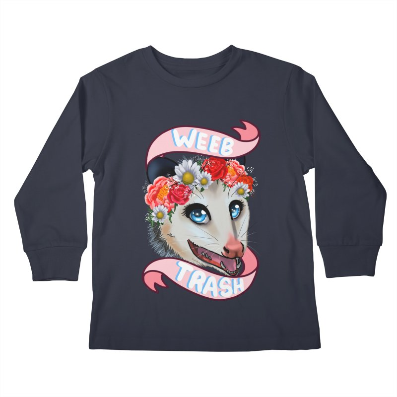 Weeb trash Kids Longsleeve T-Shirt by AnimeGravy