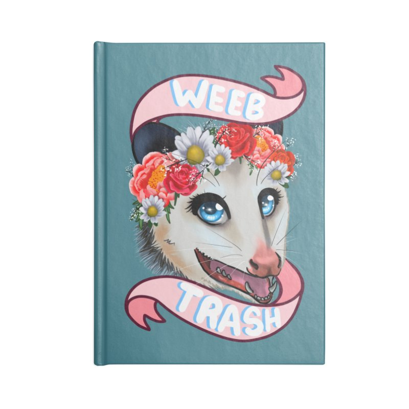 Weeb trash Accessories Lined Journal Notebook by AnimeGravy