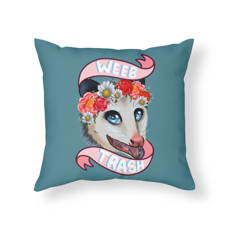 Weeb trash Home Throw Pillow by AnimeGravy