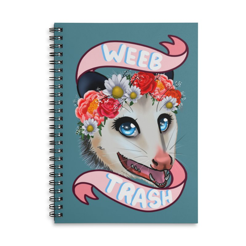 Weeb trash Accessories Lined Spiral Notebook by AnimeGravy