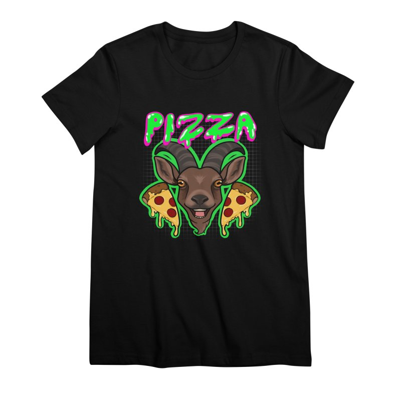 Pizza goat Women's Premium T-Shirt by Animegravy's Artist Shop