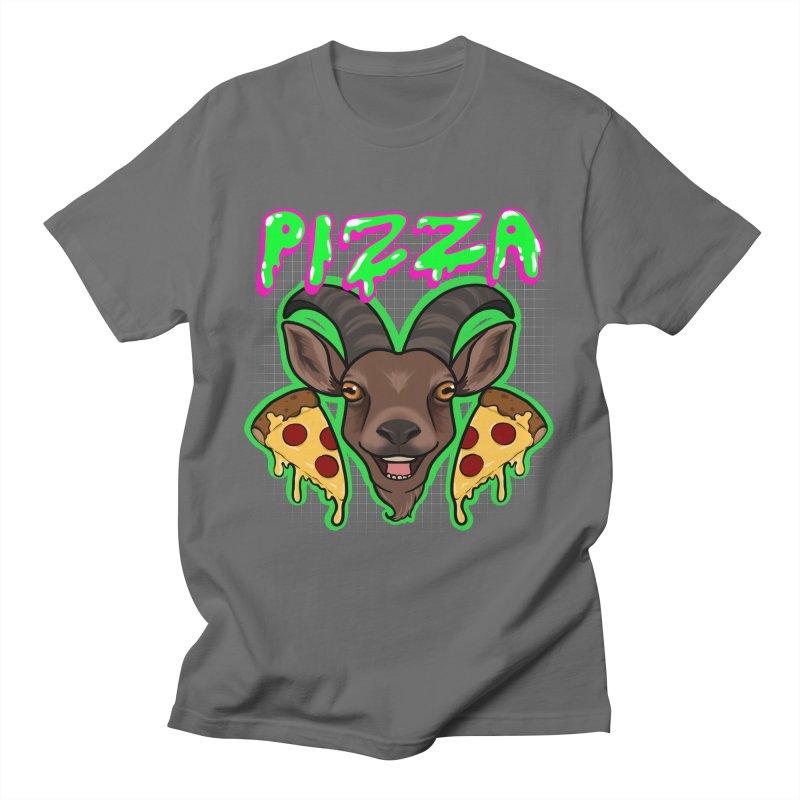 Pizza goat Men's T-Shirt by AnimeGravy