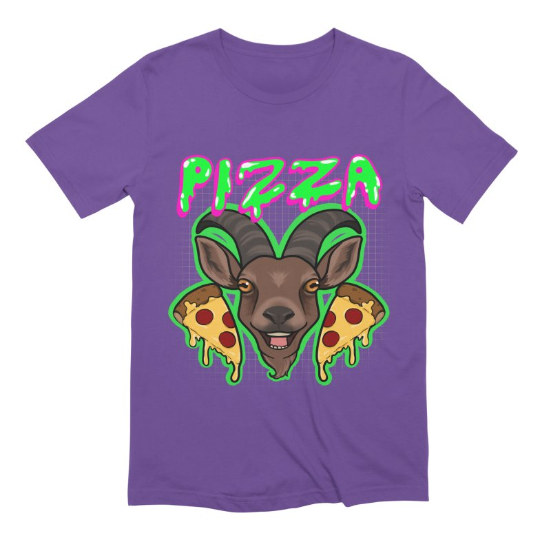Pizza goat Men's Extra Soft T-Shirt by Animegravy's Artist Shop