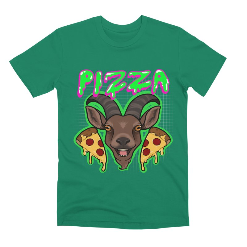 Pizza goat Men's Premium T-Shirt by AnimeGravy