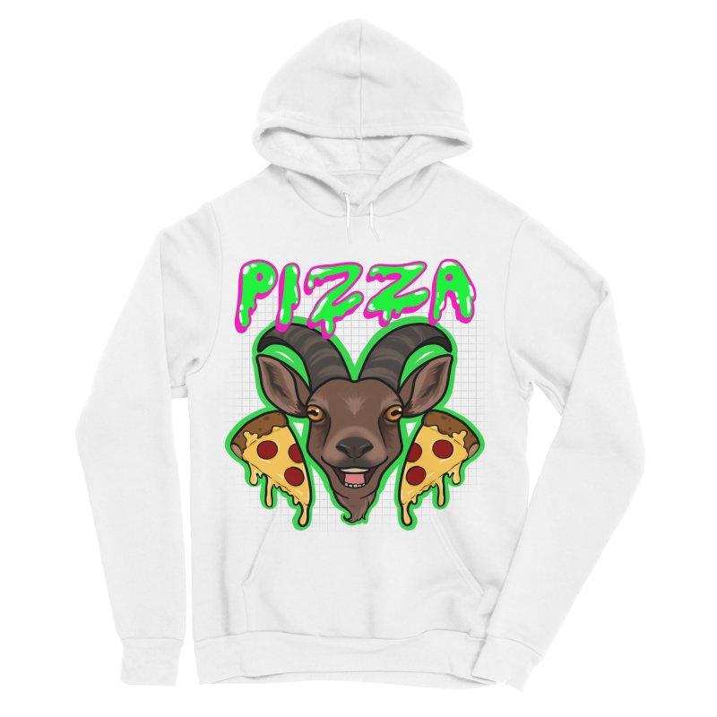 Pizza goat Women's Sponge Fleece Pullover Hoody by AnimeGravy
