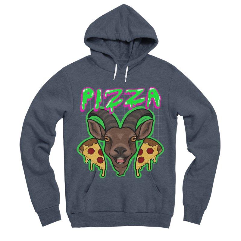 Pizza goat Men's Sponge Fleece Pullover Hoody by Animegravy's Artist Shop