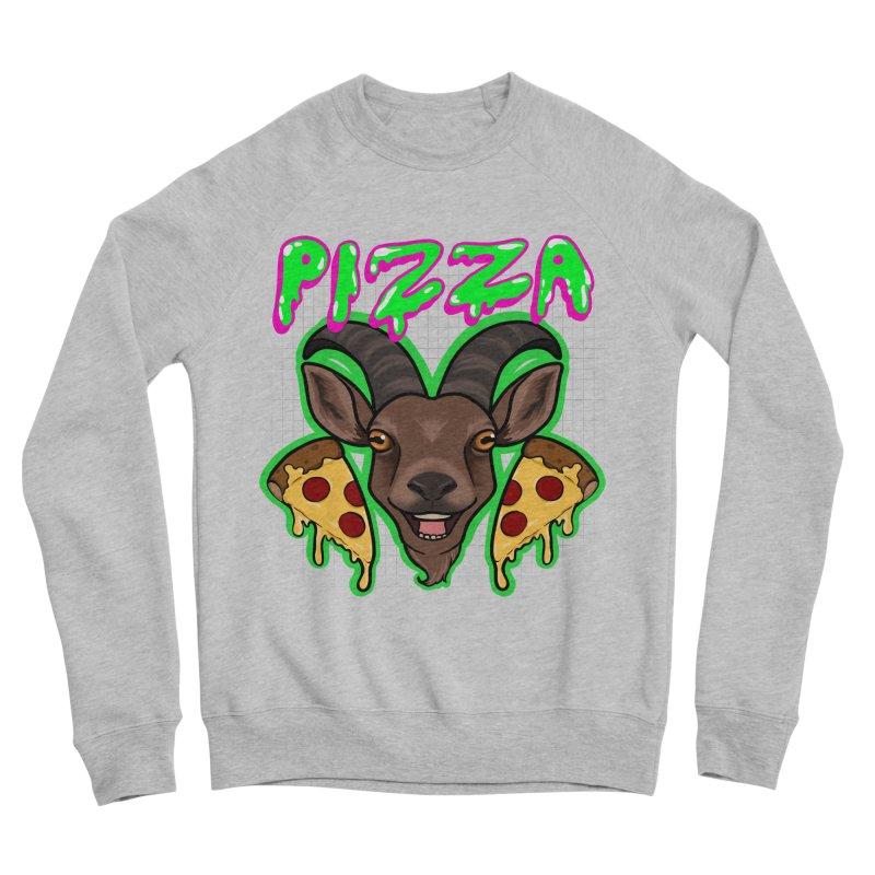 Pizza goat Women's Sponge Fleece Sweatshirt by AnimeGravy