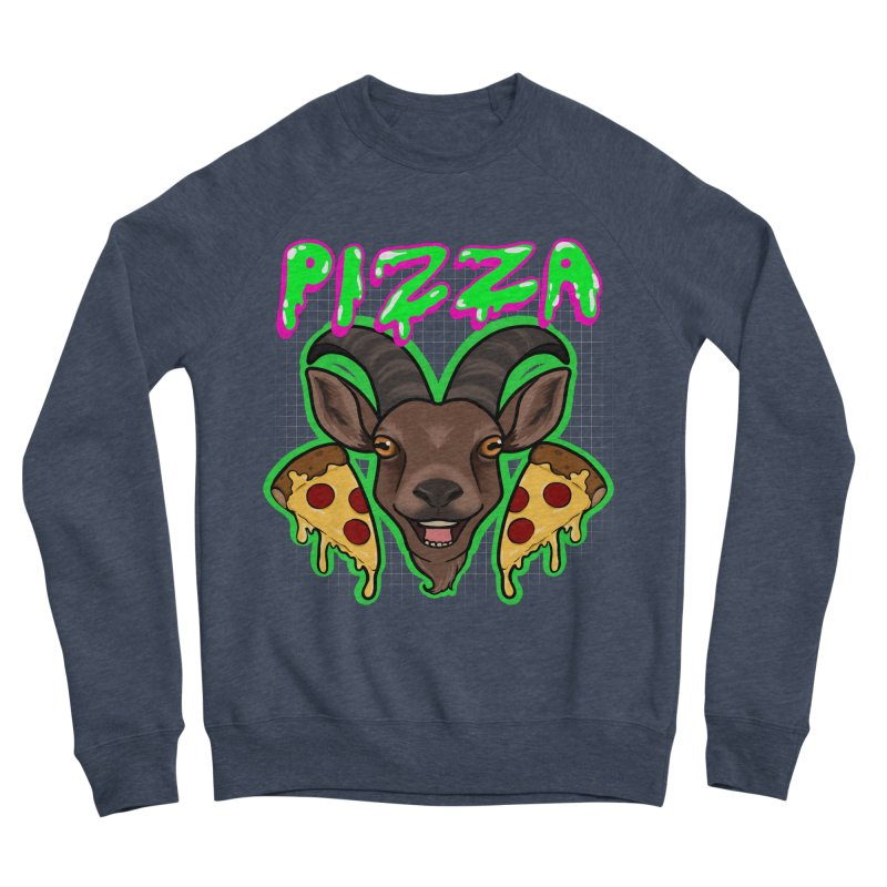 Pizza goat Women's Sponge Fleece Sweatshirt by Animegravy's Artist Shop