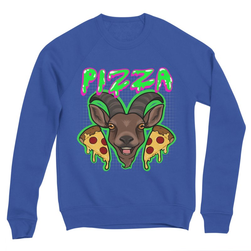 Pizza goat Women's Sponge Fleece Sweatshirt by AnimeGravy