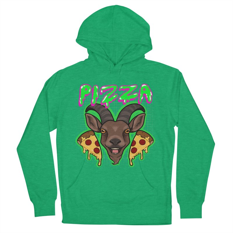 Pizza goat Women's French Terry Pullover Hoody by Animegravy's Artist Shop