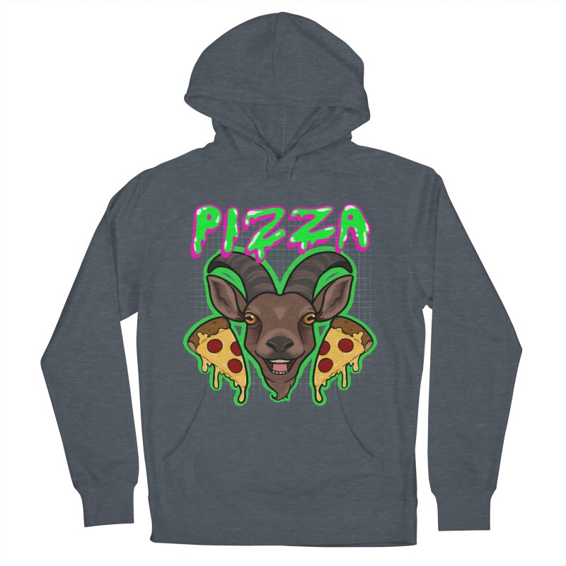 Pizza goat Women's French Terry Pullover Hoody by AnimeGravy
