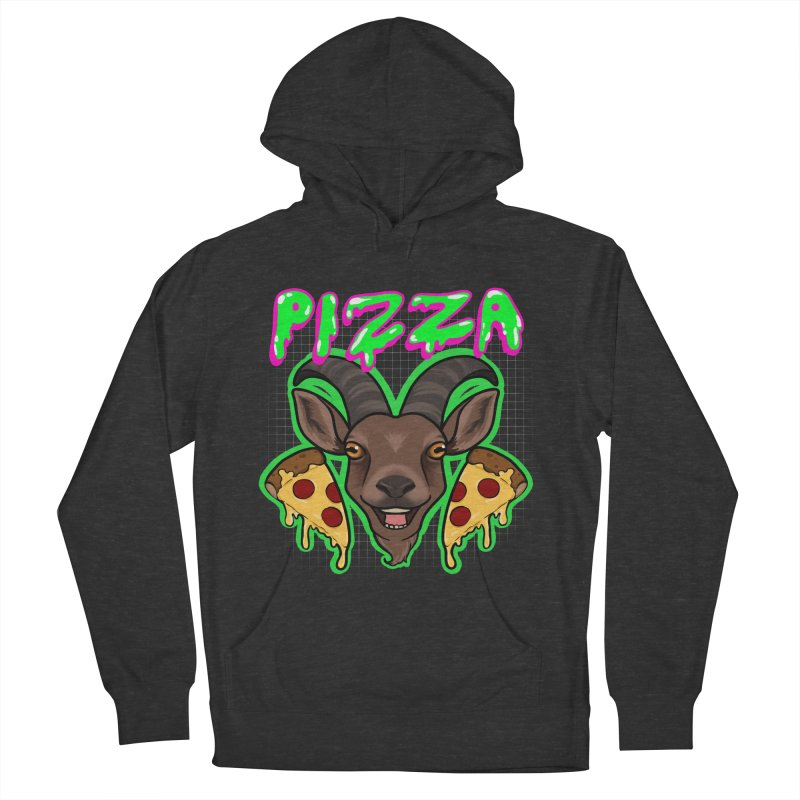 Pizza goat Men's French Terry Pullover Hoody by Animegravy's Artist Shop