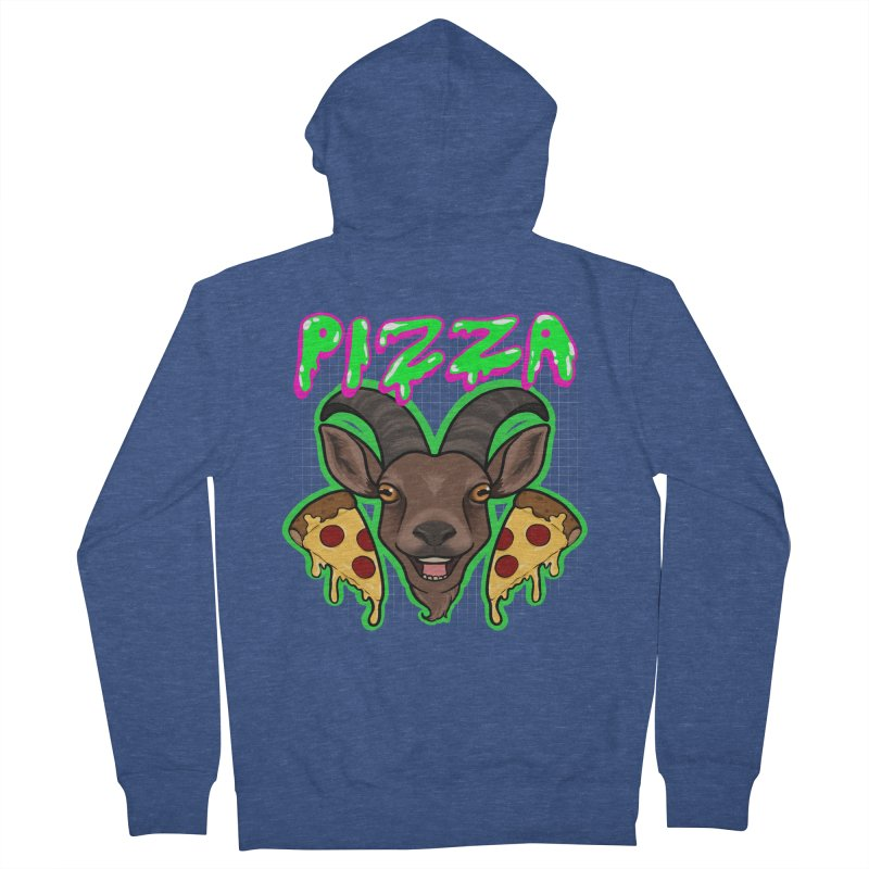 Pizza goat Women's French Terry Zip-Up Hoody by AnimeGravy