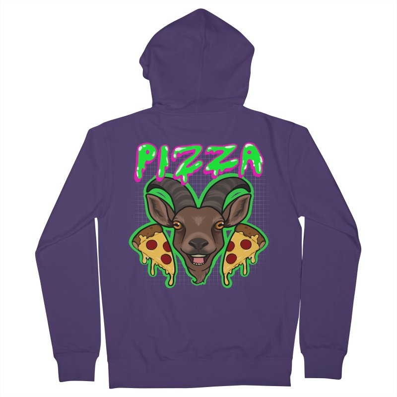 Pizza goat Women's French Terry Zip-Up Hoody by Animegravy's Artist Shop