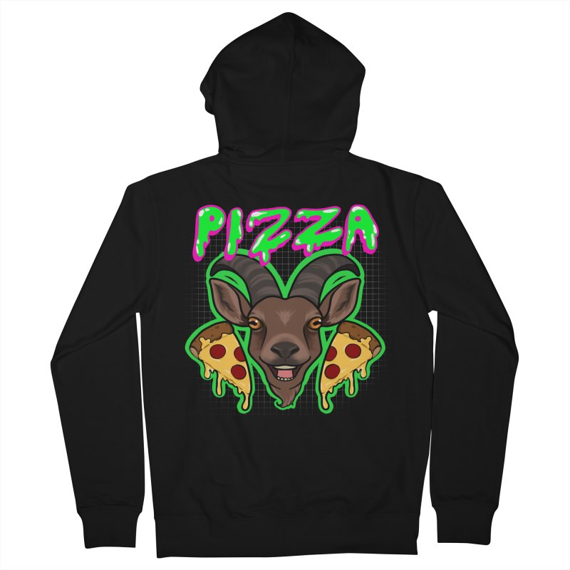 Pizza goat Men's French Terry Zip-Up Hoody by AnimeGravy