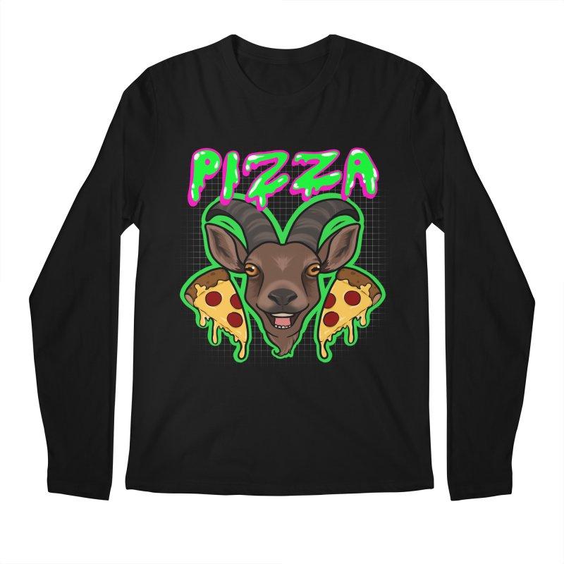Pizza goat Men's Regular Longsleeve T-Shirt by AnimeGravy