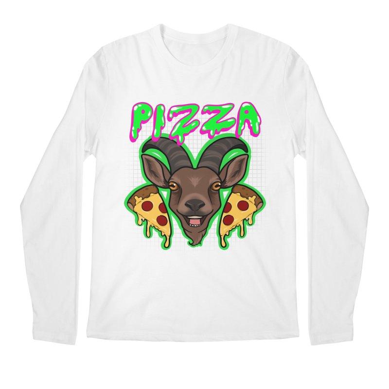 Pizza goat Men's Regular Longsleeve T-Shirt by Animegravy's Artist Shop