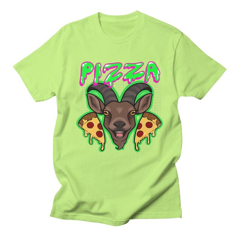 Pizza goat Men's Regular T-Shirt by Animegravy's Artist Shop