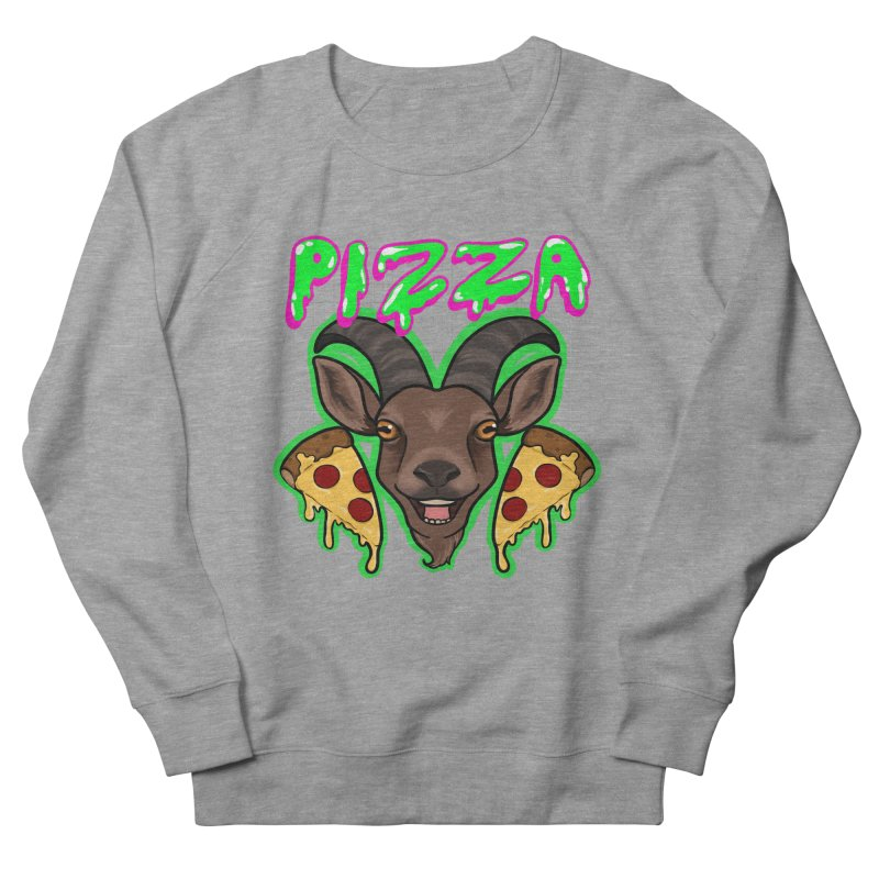 Pizza goat Women's French Terry Sweatshirt by Animegravy's Artist Shop