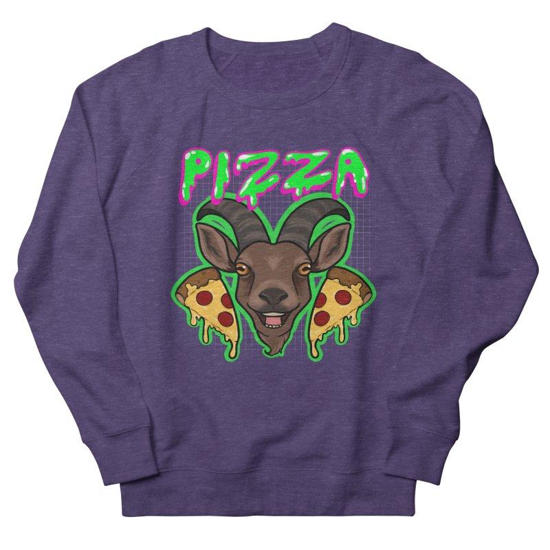 Pizza goat Men's French Terry Sweatshirt by Animegravy's Artist Shop