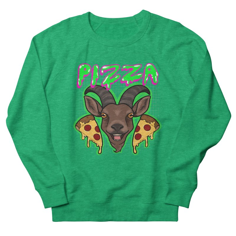 Pizza goat Men's French Terry Sweatshirt by AnimeGravy