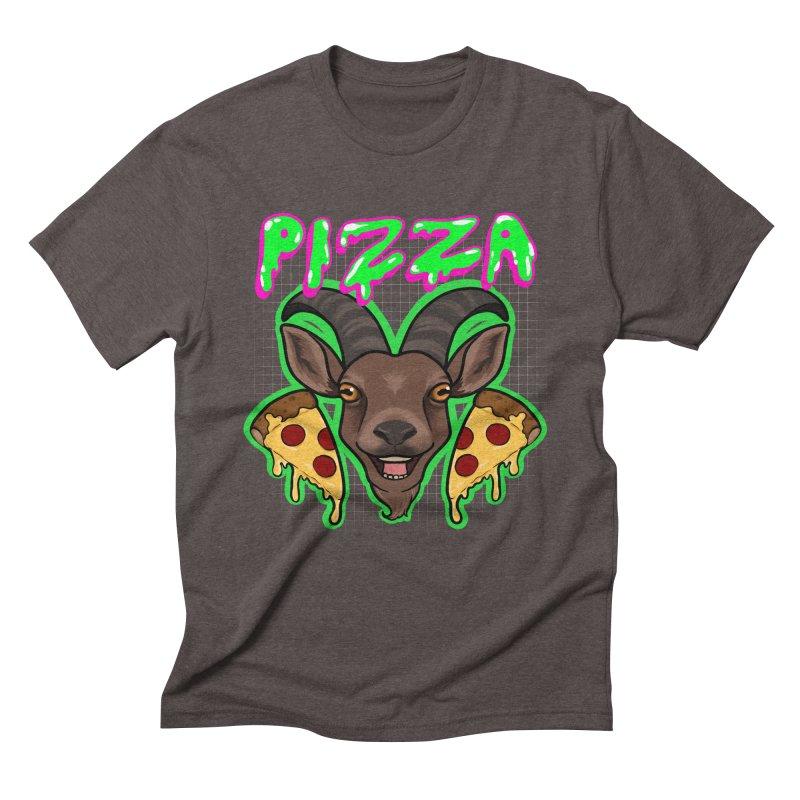Pizza goat Men's Triblend T-Shirt by AnimeGravy