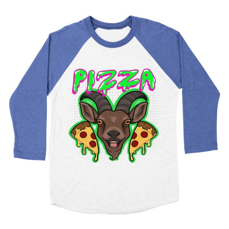 Pizza goat Women's Baseball Triblend Longsleeve T-Shirt by AnimeGravy