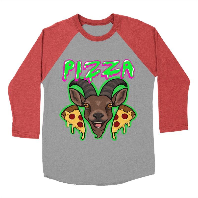Pizza goat Men's Baseball Triblend Longsleeve T-Shirt by Animegravy's Artist Shop