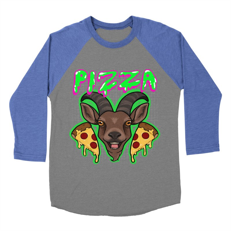 Pizza goat Men's Baseball Triblend Longsleeve T-Shirt by AnimeGravy