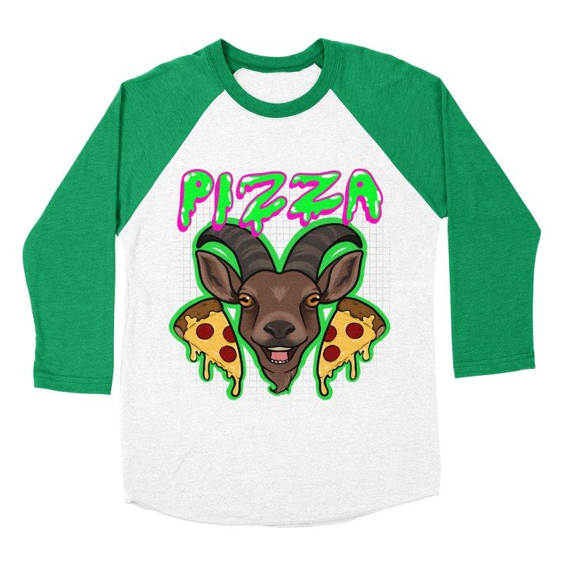 Pizza goat Men's Baseball Triblend Longsleeve T-Shirt by AnimeGravy