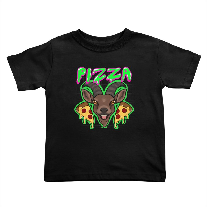 Pizza goat Kids Toddler T-Shirt by Animegravy's Artist Shop