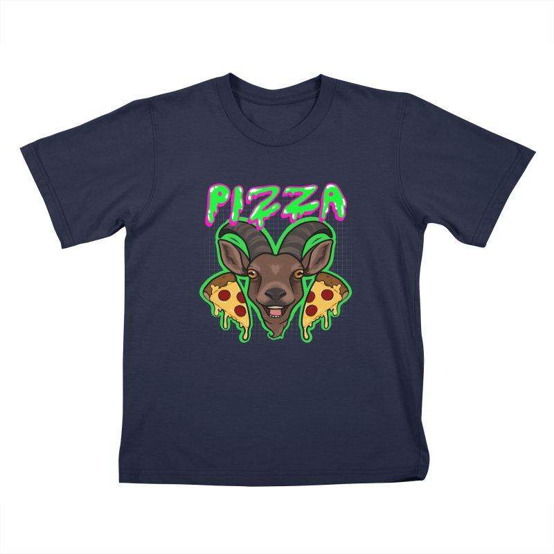 Pizza goat Kids T-Shirt by AnimeGravy