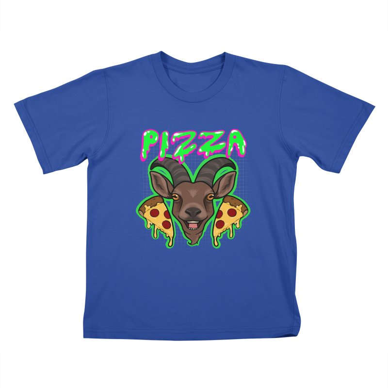 Pizza goat Kids T-Shirt by Animegravy's Artist Shop
