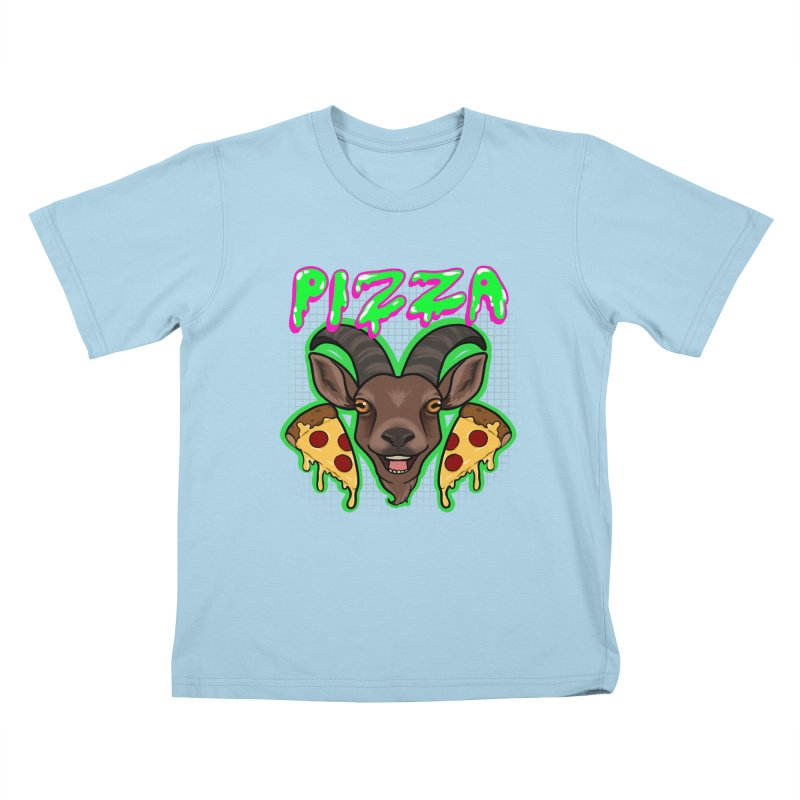 Pizza goat Kids T-Shirt by Animegravy's Artist Shop