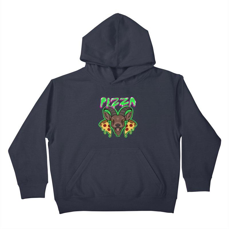Pizza goat Kids Pullover Hoody by AnimeGravy