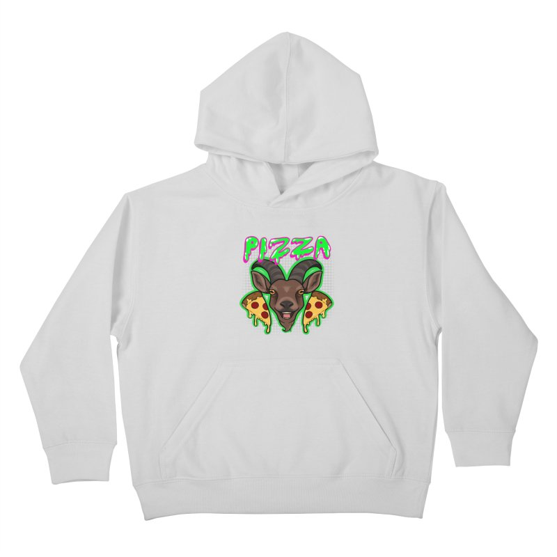 Pizza goat Kids Pullover Hoody by AnimeGravy