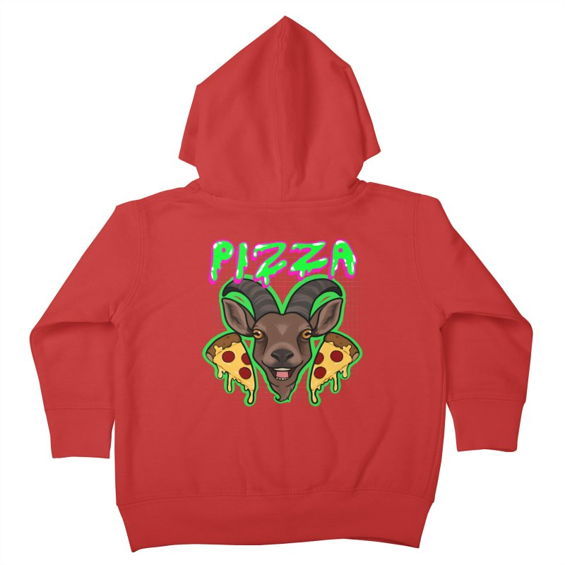 Pizza goat Kids Toddler Zip-Up Hoody by AnimeGravy