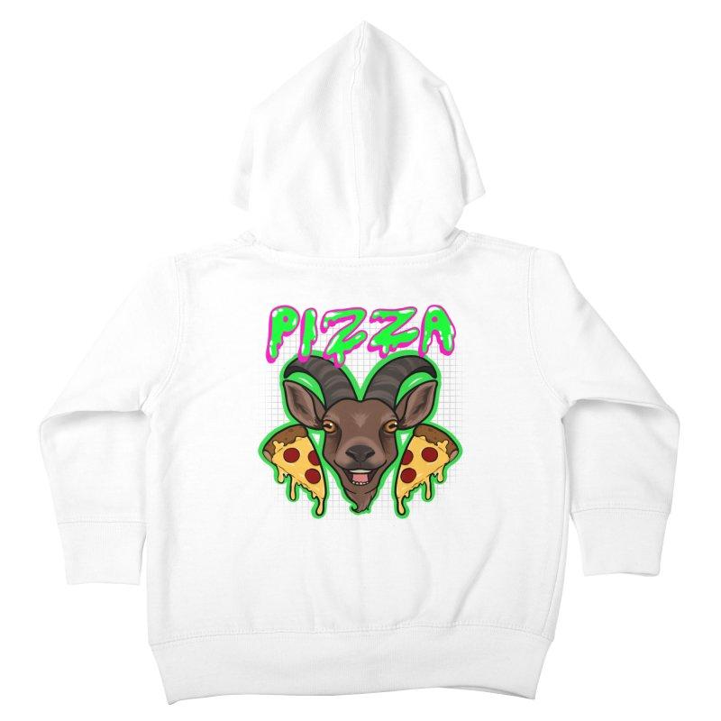Pizza goat Kids Toddler Zip-Up Hoody by AnimeGravy