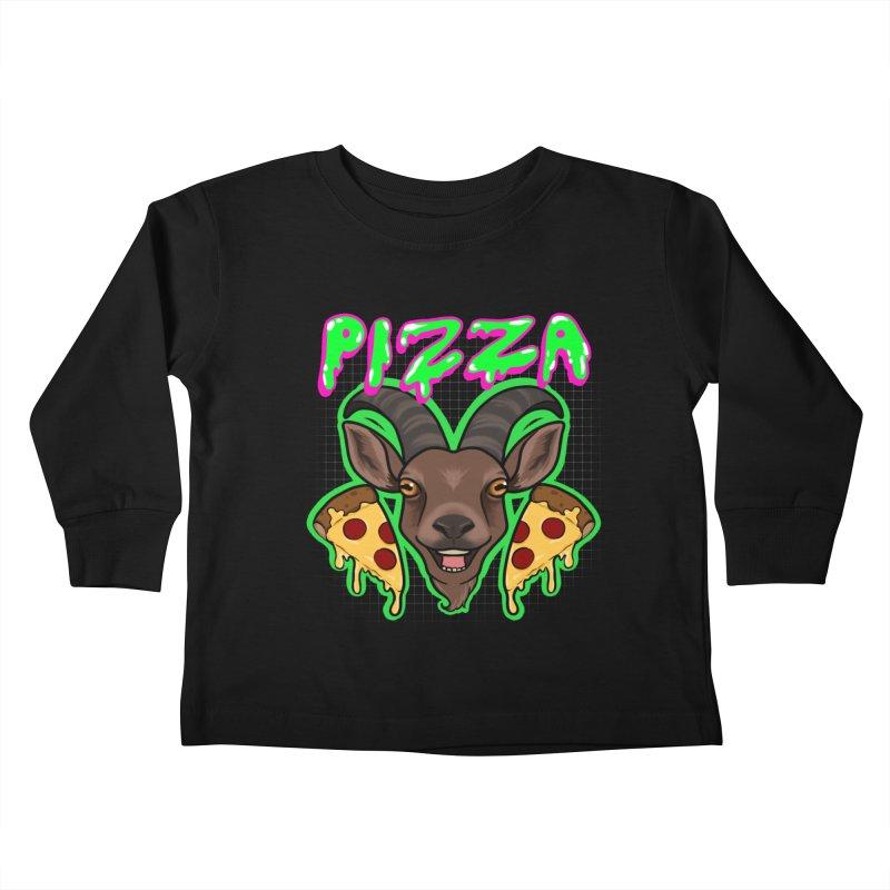 Pizza goat Kids Toddler Longsleeve T-Shirt by Animegravy's Artist Shop